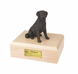Long-Haired Bronze Labrador Dog Figurine Pet Cremation Urn - 441