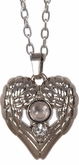 Lords Prayer Angel Wings Heart Magnifier Jewelry Pendant Necklace