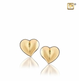 LoveHeart Gold Vermeil Memorial Jewelry Stud Earrings