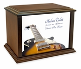 LP Electric Guitar Eternal Reflections Wood Cremation Urn - 4 Sizes