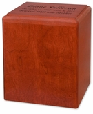 Madison Cherry MDF Wood Cremation Urn