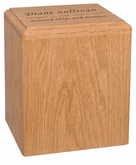 Madison Oak MDF Wood Cremation Urn