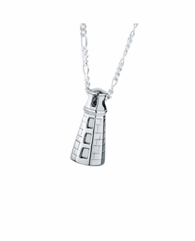 Maine Lighthouse Sterling Silver Cremation Jewelry Pendant Necklace