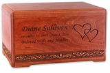 Majesty Cherry Wood Cremation Urn