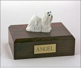 Maltese Dog Figurine Pet Cremation Urn - 1876