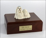 Maltese Dog Figurine Pet Cremation Urn - 343