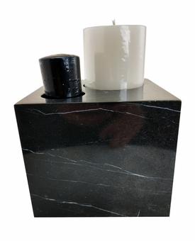 Marble Candle Photo Cremation Urn-S