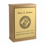 Marine Corps Sheet Bronze Overlap Top Niche Cremation Urn with Engraved Plate