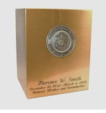 Marine Corps Sheet Bronze Snap-Top Cremation Urn