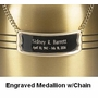 Medallion Nameplate with Chain - 5 colors - Standard Size