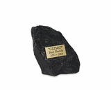 Medium Black Rock Pet Cremation Urn