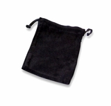 Medium Black Velvet Cremains Bag For Ashes