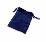 Medium Blue Velvet Cremains Bag For Ashes