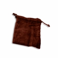 Medium Burgundy Velvet Cremains Bag For Ashes
