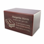 Medium Cherry Finish MDF Wood Cremation Urn