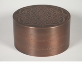 Medium Copper Crown Infant Custom Handcrafted Copper Cremation Urn