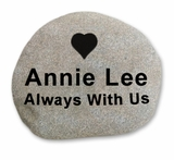 Medium Memorial River Rock -Stone Garden  Marker - Custom Engraved