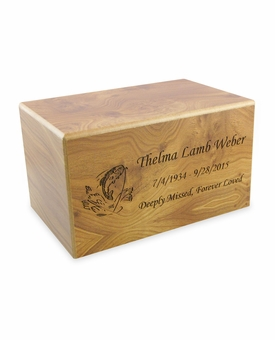 Medium Natural Finish MDF Wood Cremation Urn