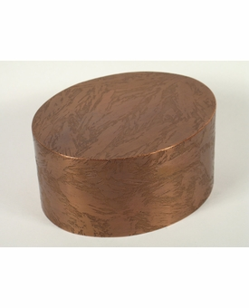 Medium Oval Custom Handcrafted Copper Pet Cremation Urn