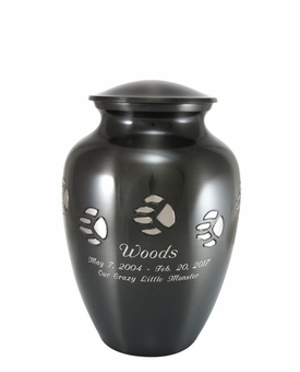 Medium Paw Print Pet Cremation Urn - Engravable