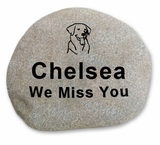 Medium Pet Memorial River Rock -Stone Garden  Marker - Custom Engraved