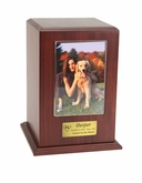 Medium Photo Tower Walnut Wood Pet Cremation Urn