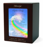 Medium Rainbow Bridge 1 Cherry Finish Pet Cremation Urn
