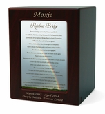 Medium Rainbow Bridge 2 Cherry Finish Pet Cremation Urn