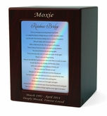 Medium Rainbow Bridge 3 Cherry Finish Pet Cremation Urn