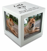 Medium Rotating Photo Cube Pet Cremation Urn - 3 Color Choices