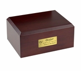 Medium Traditional Walnut Wood Pet Cremation Urn