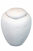 Medium White Sand Biodegradable Paw Prints in the Sand Pet Cremation Urn