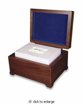 Memory Chest with Floral Bouquet Biodegradable Memory Cremation Urn