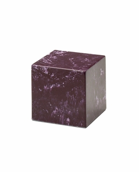 Merlot Small Cube Cremation Urn - Engravable