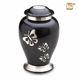 Midnight Butterfly Cremation Urn