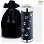 Midnight Tone Paw Prints Tall Tealight Candle Pet Cremation Urn