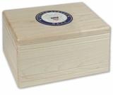 Military Boxwood Maple Wood Cremation Urn With Military Branch Choice