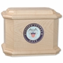 Military Diplomat Maple Wood Cremation Urn With Military Branch Choice
