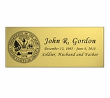 Military Engraved Rectangular Nameplate