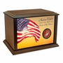 Military Eternal Reflections Wood Cremation Urn