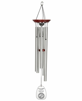 Military Memorial Wind Chime Cremation Urn with Engraving