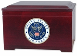 Military Rosewood Memory Chest Urn With Military Branch Choice