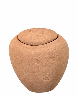 Mini Ocean Sand Biodegradable Paw Prints in the Sand Pet Cremation Urn
