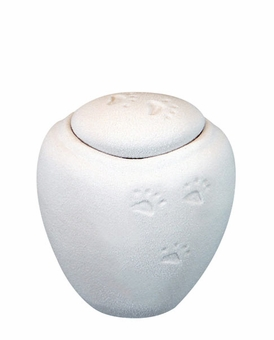 Mini White Sand Biodegradable Paw Prints in the Sand Pet Cremation Urn