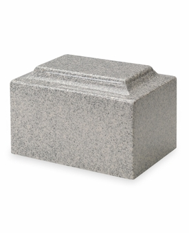 Mist Gray Classic Cultured Marble Cremation Urn Vault - Engravable