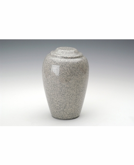 Mist Gray Grecian Cremation Urn - Engravable