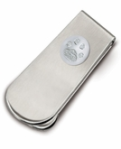 Money Clip With Mounted Sterling Silver Standard Buddies