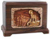 Moonlight Serenade with 3D Inlay Walnut Wood Hampton Cremation Urn