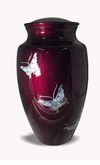 Mother Of Pearl Butterfly Cremation Urn