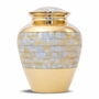 Mother Of Pearl Elite Cremation Urn